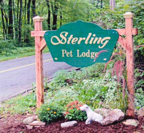 Sterling Pet Lodge Sign at Entry